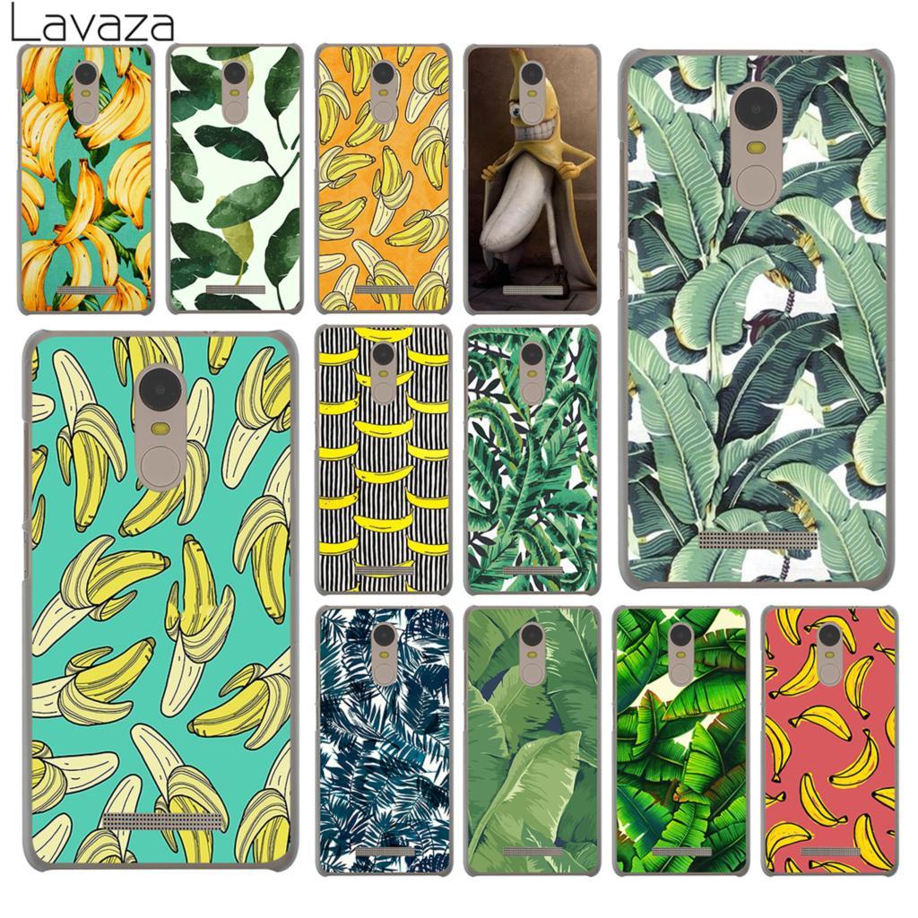 Lavaza banana leaf pattern Tropical Leaves Hard Phone Case for Xiaomi Redmi K30 K20 8A 7A 5A 6A Note 8 8T 7 5 6 Pro Cover