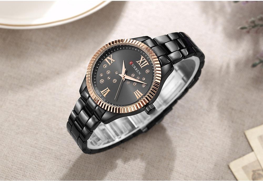 CURREN New Fashion Watch Women's Rhinestone Quartz Wristwatch Ladies Dress Female Clock relogio feminino Rose Gold reloj mujer enlarge