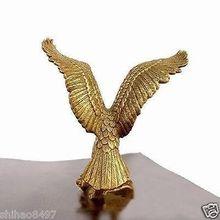 "Estatua de águila de latón pequeño/figura de halcón 4,5 ""alta decoración de jardín 100% latón real"