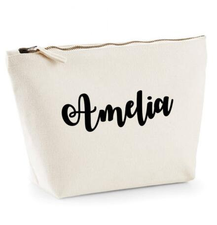 set of 9 Personalised Bridesmaid names wedding Gift Make Up Bags Unique Gift for Bridal Party toiletry Bags