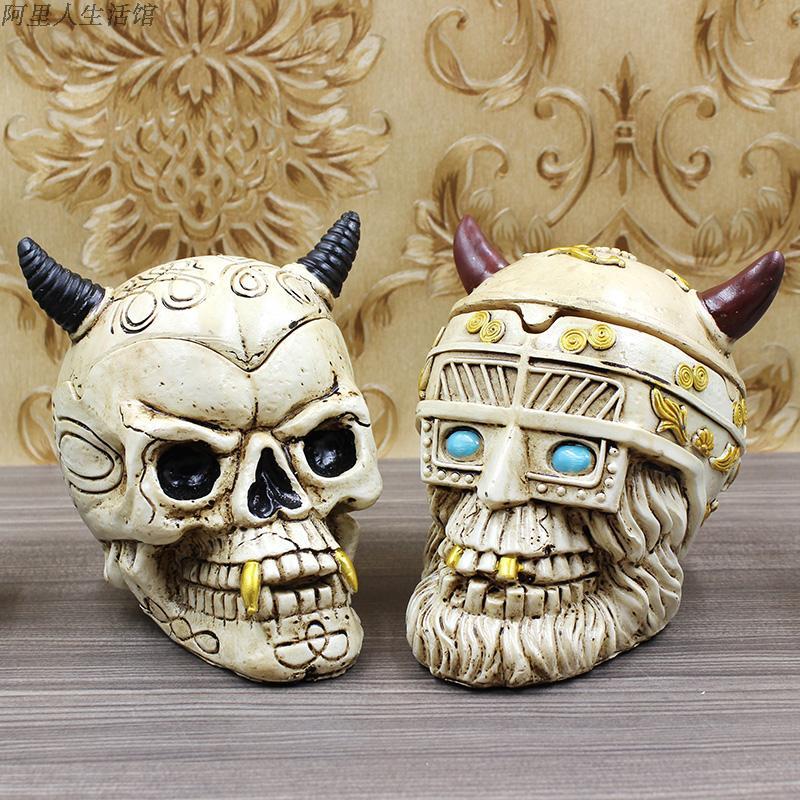 Cenicero de cráneo personalizado de Pipa para fumar, regalo de cumpleaños, Cenicero para coche, billar, balón de fútbol, Cenicero para coche