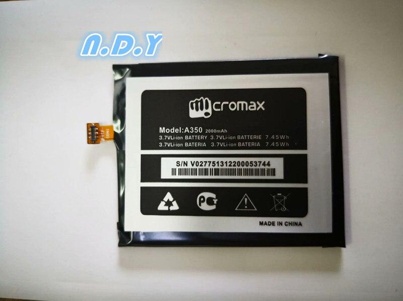 Nueva batería de alta calidad Micromax A350 2000 mAh para teléfono móvil Micromax A350