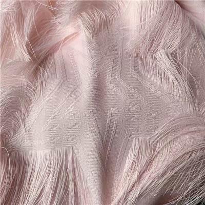 Exquisita flor cortada pluma tridimensional tela de borla perspectiva textura Malla tela de moda HG06