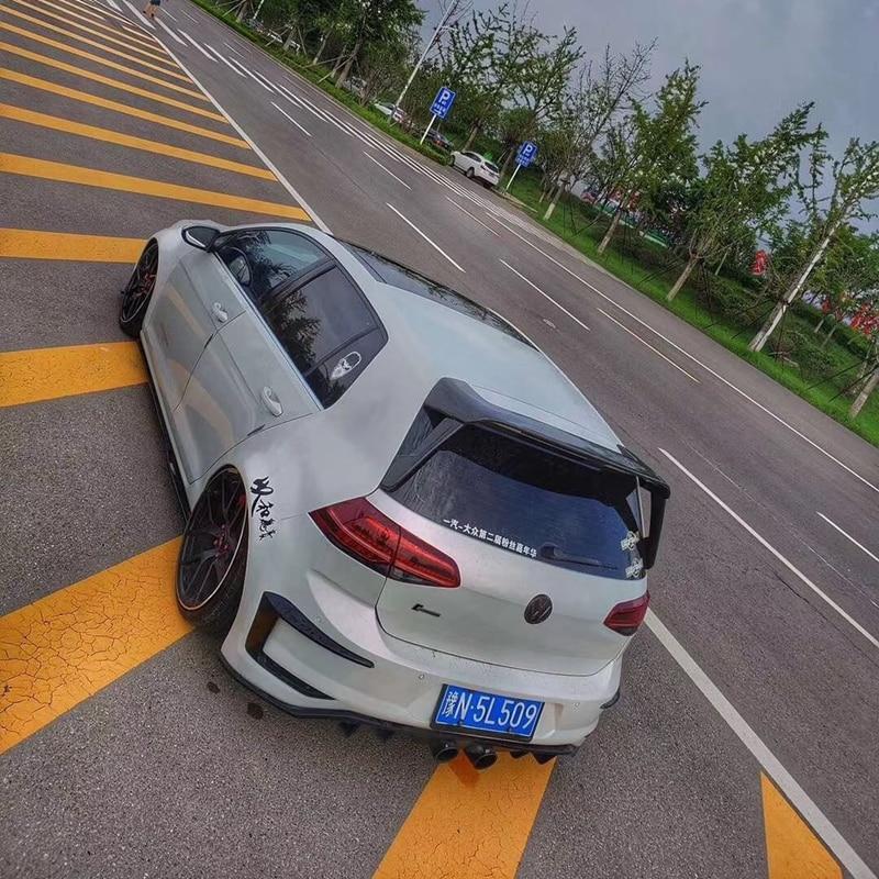 For Volkswagen GOLF MK7 MK7.5 Spoiler 2014-2018 R-LINE spoiler High Quality ABS Material Car Rear Wing Primer Color Rear Spoiler