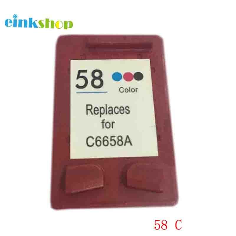 Einkshop 58 llenar cartucho de tinta HP 58 Deskjet serie 450, 5150, 5850, 9680, 7660, 9650 PhotoSmart 130, 145, 7960 impresora