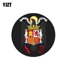 YJZT-autocollant manteau des bras espagnol   Étiquette daigle, pour moto, accessoires de voiture, 10CM * 10CM 6-2033