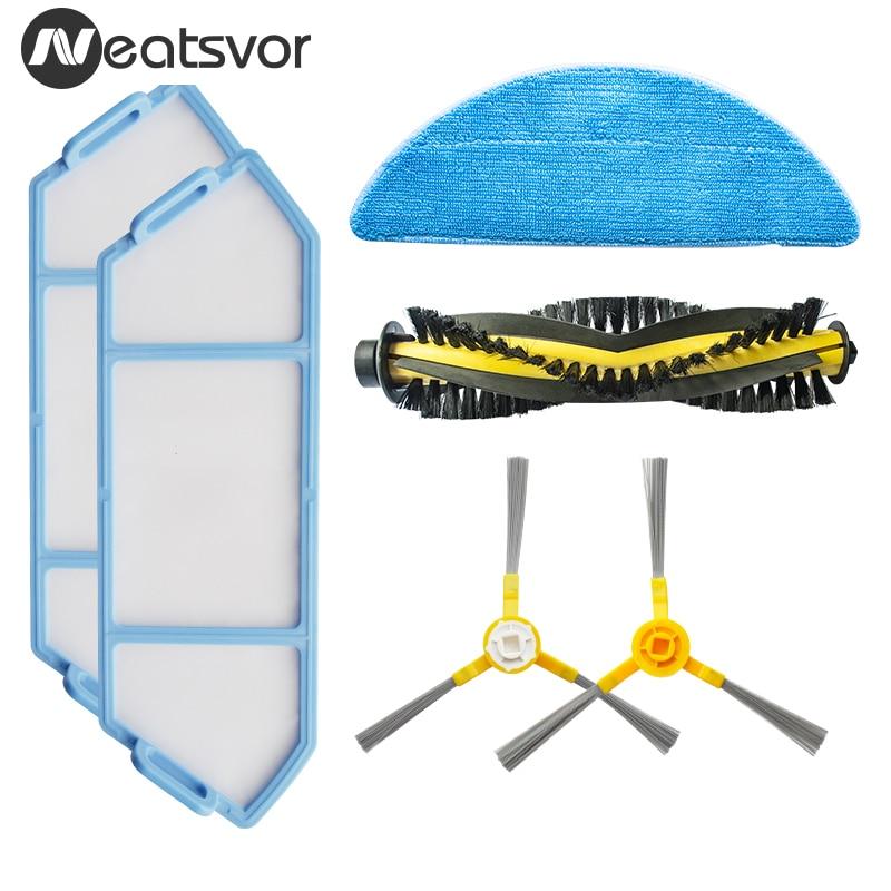 Ersatz Kits für NEATSVOR X500 Roboter Staubsauger Zubehör Mit Filter Mopp Tuch Rutsche Pinsel