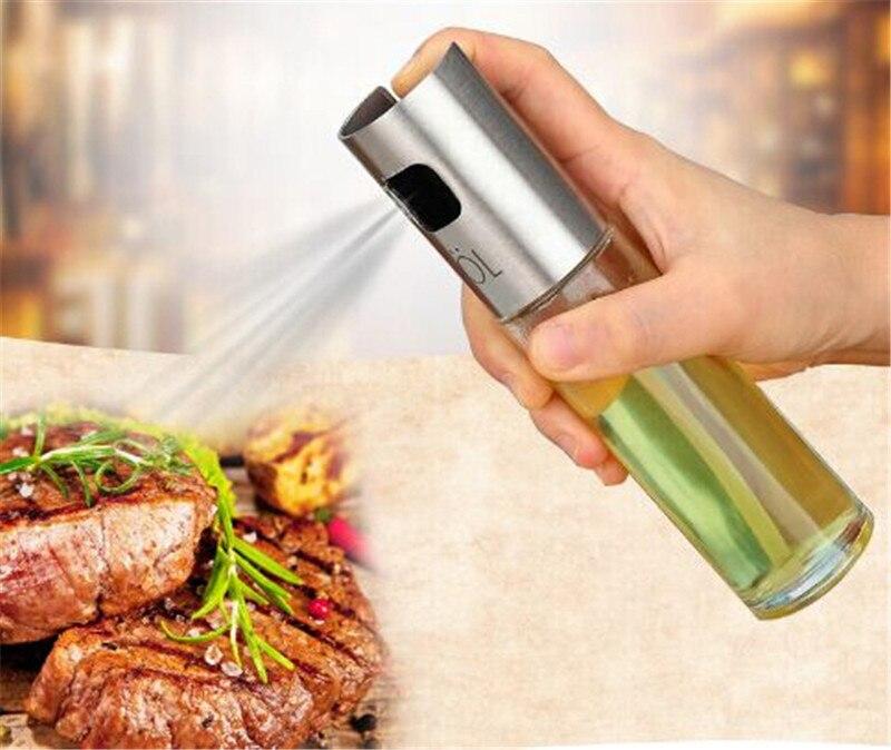 Glass Olive Oil Sprayer Oil Spray Empty Bottle Vinegar Bottle Oil Dispenser Cooking Salad BBQ Baking Tools Kitchen accessories