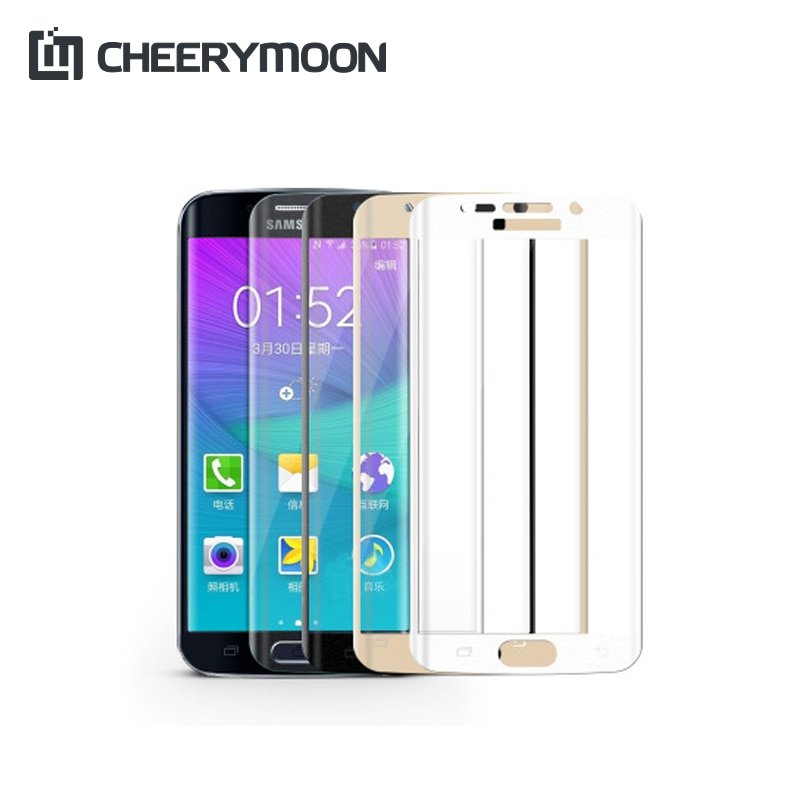 CHEERYMOON New Full Cover Screen Protector Film Tempered Glass For SamSung Galaxy S6 Edge Plus AE Saver Ship