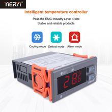Yieryi STC-9100 regulador de controle temperatura de armazenamento frio congelador controlador de temperatura refrigeração alarme geada sensor duplo