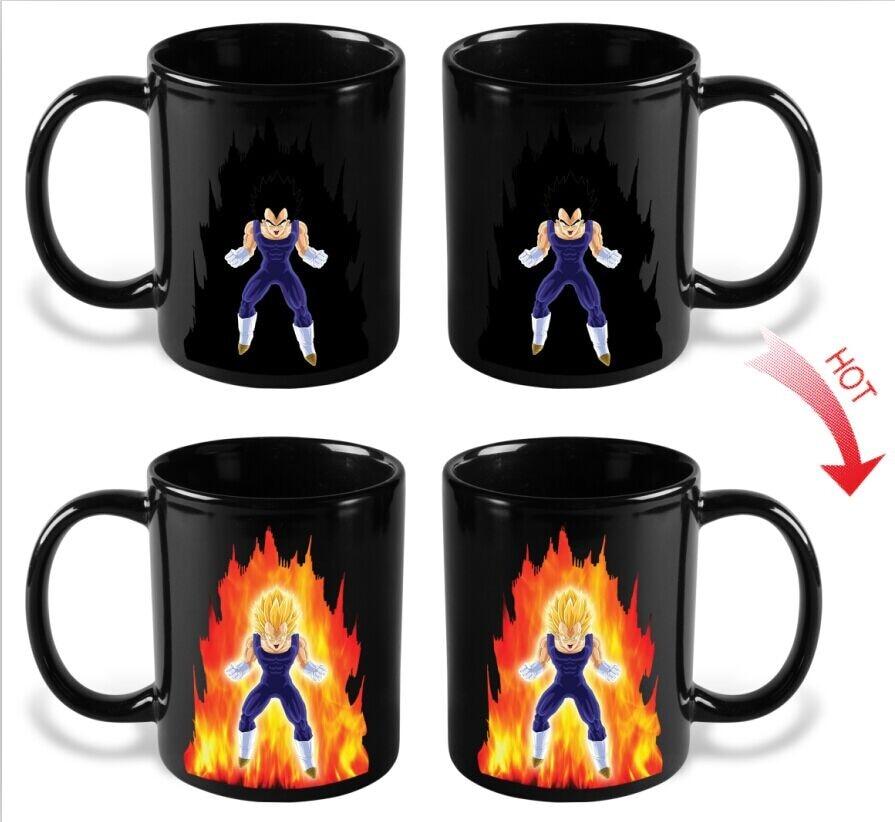 drop shipping heat sensitive magic color changing ceramic dragon ball z mug dragon ball cup