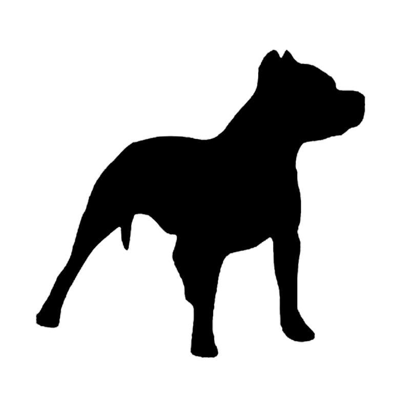 14*13.2 CENTÍMETROS Pit Bull Dog Silhueta Decoração Car Vinyl Decal Engraçado Adorável Animal Etiqueta Do Carro Preto/Prata c6-1428