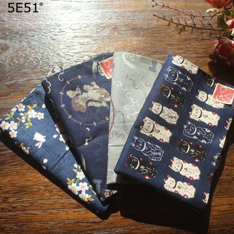 Мужской платок furoshiki из 100% хлопка/японский стиль с принтом 35 см/много применений