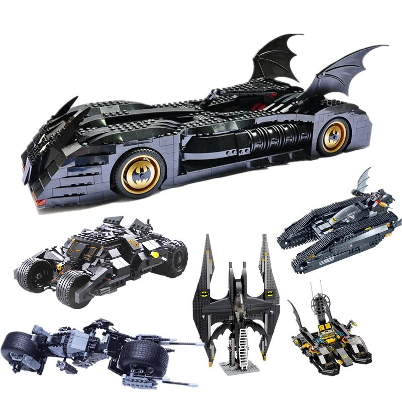 New Super Heroes Batman Blocks The Tumbler Bat Mobile Fighter Tank Warship Blocks Building With 7784 76103