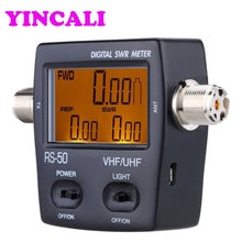 Nieuw Digitale SWR Staande Golf Verhouding Power Meter RS-50 SWR/Watt Meter 125-525 mhz Energie Meter voor HAM UHF/VHF USB Interface