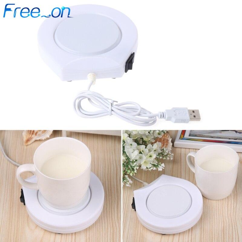 Taza de bebida USB eléctrico portátil almohadilla para plato caliente para uso en la Oficina y el hogar