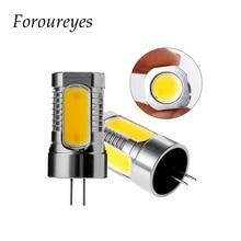 G4 luz led 12V 7,5 W COB bombilla led blanca/blanca cálida iluminación del hogar lámpara de araña lámpara de led para ahorro de energía envío gratis