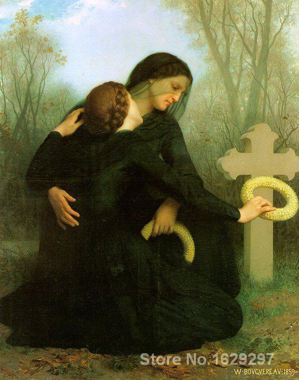 Pintura de retrato famoso Día De Todos Los Santos por William Adolphe Bouguereau pintado a mano de alta calidad
