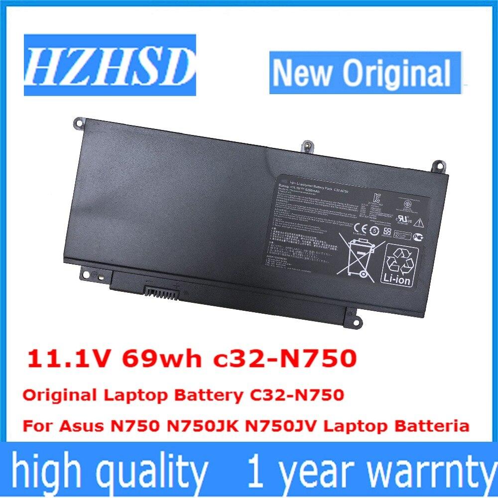 11.1V 69wh c32-N750 الأصلي بطارية كمبيوتر محمول C32-N750 ل Asus N750 N750JK N750JV محمول Batteria