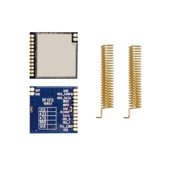 2 unids/lote 3mA 315 MHz   433 MHz baja potencia alta sensibilidad SPI FSK pequeño Transmisor RF módulo receptor inalámbrico RF1212