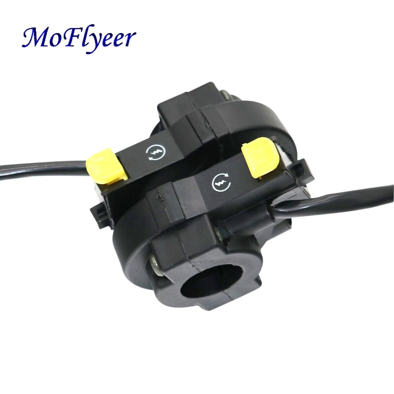 MoFlyeer Motorcycle Handlebar 7/8'' ATV Bike Horn Starter Kill Switch On Off Button Nice Motorbike Accessories