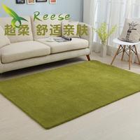 Super Soft Carpet Rug For Living Room Solid Color Wood Floor Rug Non-slip Antifouling Carpet For Bedroom Parlor Factory Supply