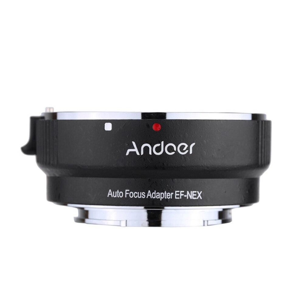 Anillo adaptador de lente AF de enfoque automático Andoer EF-NEXII antivibración para lentes Canon EF EF-S para usar para Sony NEX E Mount Cámara Full Frame