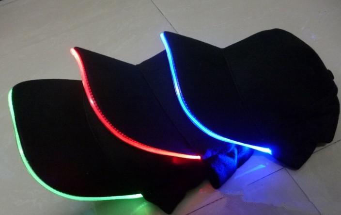 LED Light Hat Party Hats Boys and Grils Cap Baseball Caps Fashion Luminous Different Colors Adjustment SIZE 10pcs/lot