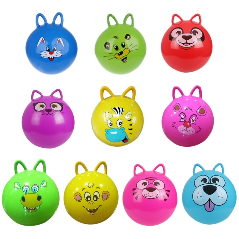 AliExpress - 1Pc New 18″ Cat Ear Inflatable Jump Ball Hopper Bounce Retro Ball With Handle Gift Baby Toy