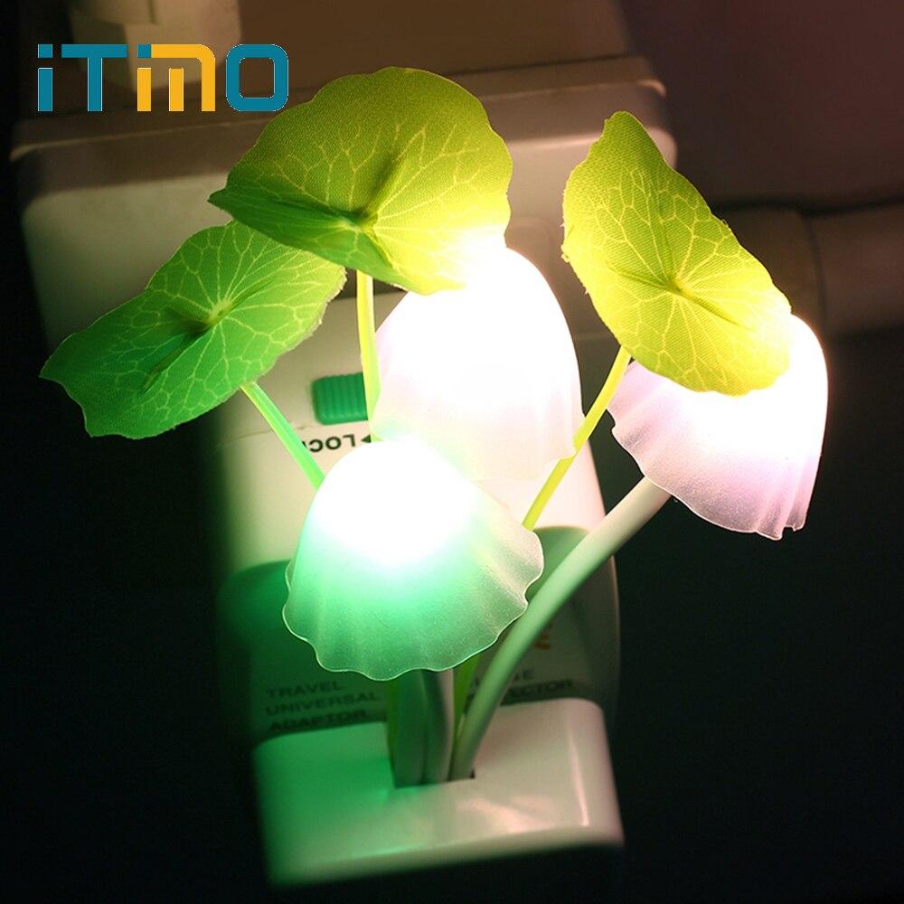 LED champignon veilleuses nous EU Plug romantique coloré ampoule chevet LED atomsphère lampe éclairage à la maison décoration décor cadeau