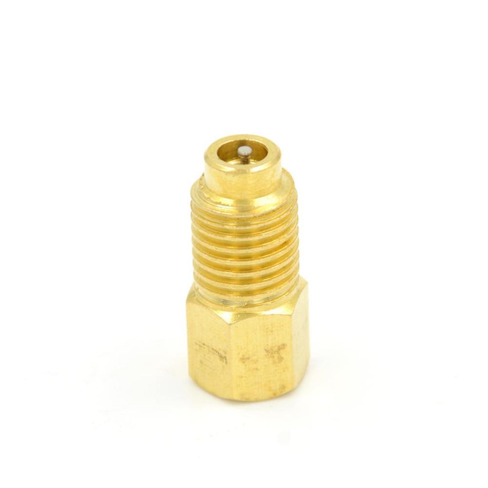 "1 Pza R12 a R134a adaptador de ajuste Outter 1/2 ""ACME Inner 1/4 SAE herramienta masculina partes Color oro 10mm"
