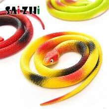 Saizhi, novedad, regalo de Halloween, juguetes de broma divertidos, simulación de serpiente falsa de miedo suave, juguete de terror para eventos de fiesta SZ2649