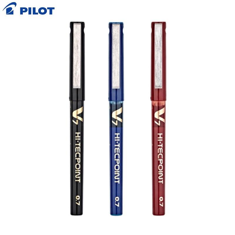 Bolígrafo de Gel V7 de alta tecnología, BX-V7 de 6 piezas de la marca japonesa 2019 con base de agua, bolígrafo de Gel de 0,7mm, Japón