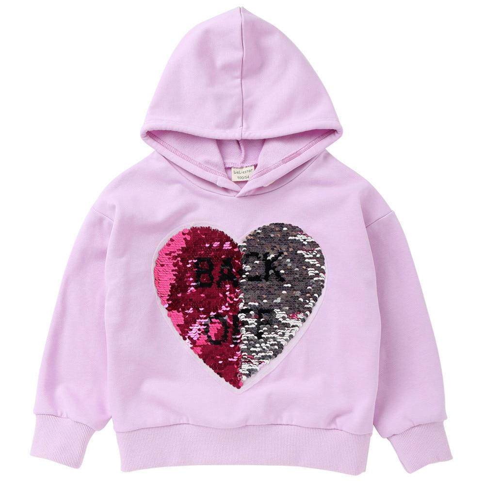 VIDMID, sudaderas con capucha para niñas, ropa para niños con lentejuelas, suéteres de decoloración para niñas, prendas de vestir exteriores inversas para niñas, chaqueta para niños 4052 03