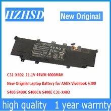 11.1V 44WH 4000MAH New Original C31-X402 Laptop Battery for ASUS VivoBook S300  S400 S400C S400CA S400E