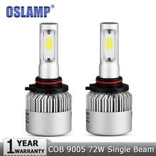 Oslamp 9005/HB3 72W voiture ampoules de phares LED 6500K 8000lm COB Automobile lampes Led 12v 24v pour BMW HYUNDAI HONDA TOYOTA VW INFINI