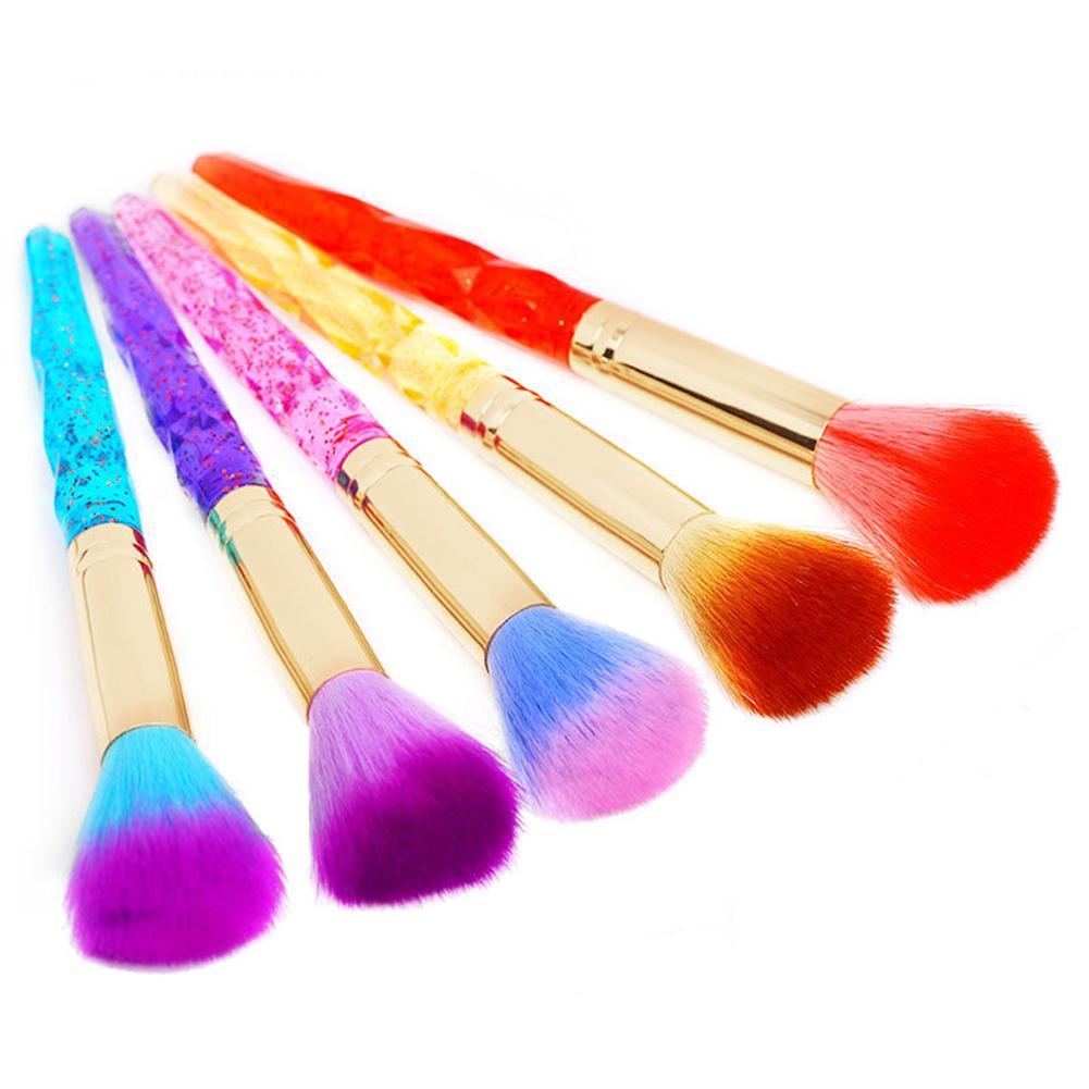 Ferramenta uv da limpeza do gel da escova da arte do prego do cabelo macio colorido para a beleza comestic do pedicure do manicure
