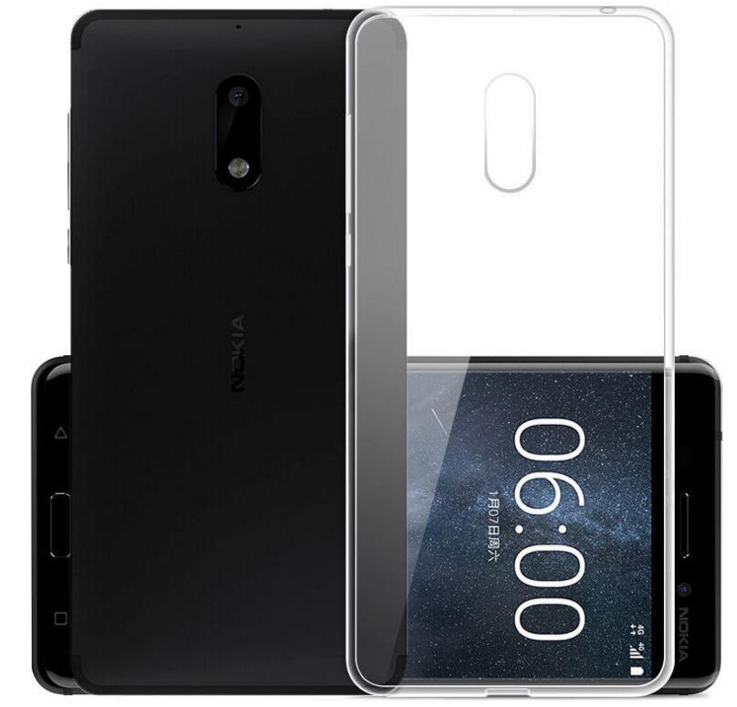 Funda transparente cristalina para Nokia 3 5 6 8 Nokia 3,1 5,1 6,1 Nokia X6 Gel suave TPU funda trasera de piel