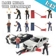 People Race Medal 1:43 5pcs set people Model The Repairman Scenario Model matchbox greenlight M2