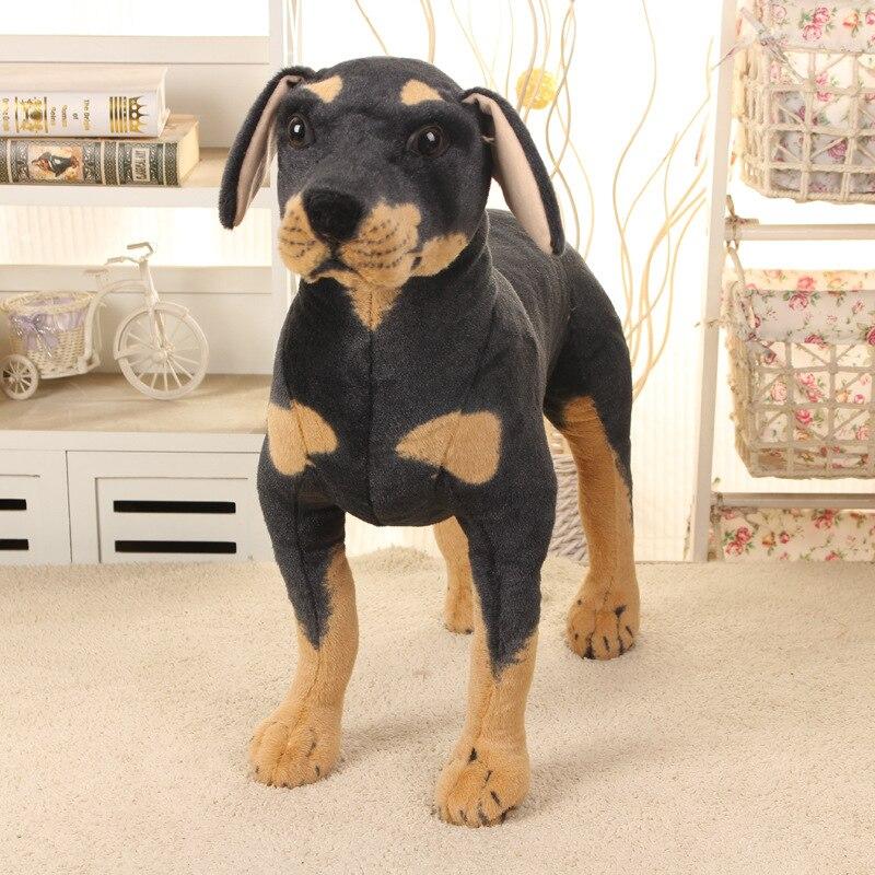 Grand nouveau simulaiton peluche Rottweiler chien jouet belle debout noir chien poupée cadeau environ 60x60 cm