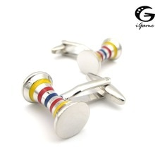 iGame New Arrival Stripes Cuff Links Muti Color Designer Design Quality Brass Material Cufflinks Fre
