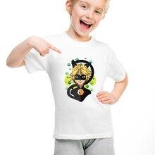 DERMSPE T-shirt manches courtes col rond   En coton, ample et humoristique, à la mode estivale, pour enfants et garçons et filles