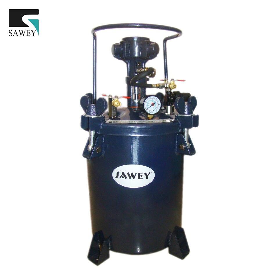 10L/2,64 galón automático auto pintura mezcladora agitador de la olla de la presión del barril del tanque, olla interior de acero inoxidable