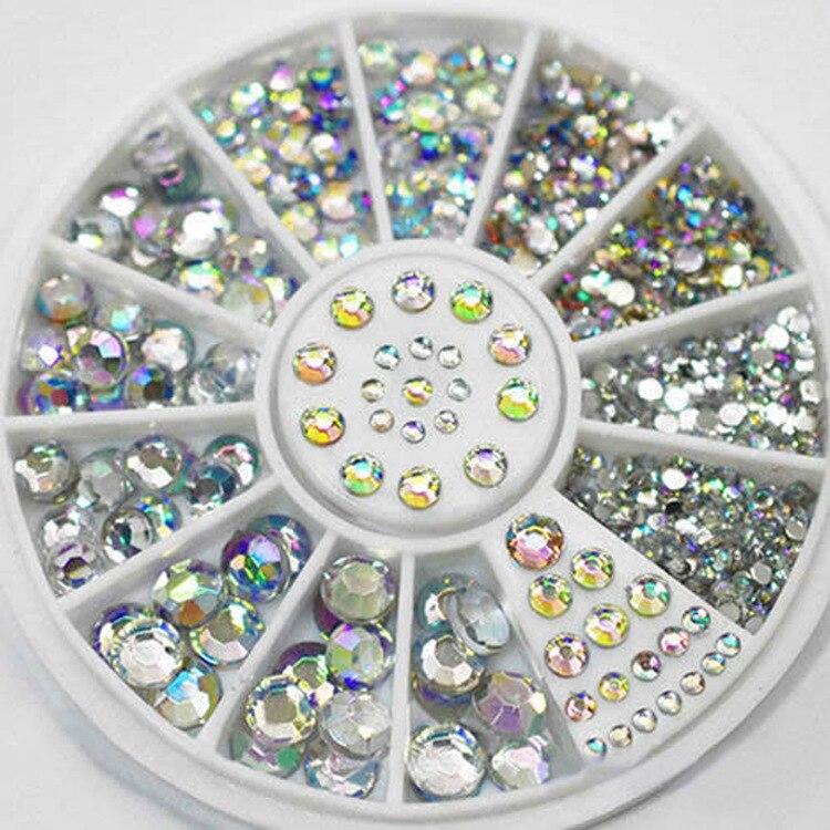 Diamantes de imitación para strass para decoración de uñas Decoración Accesorios de manicura uñas dekor artístico de piedras ópalo de cristal decoraciones nuevo