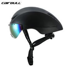 New CAIRBULL Cycling Helmet AERO-R1 Magnetic goggles road bike Professional pneumatic TT helmet Riding Time-Trial Racing Helmet