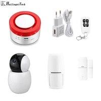 Sirene dalarme WiFi de securite intelligente   Pour la maison  camera sans fil intelligente  Compatible avec APP Life intelligente
