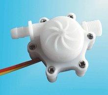 Free Shipping 10PCS/Lot DC3-18V Straight Water Flow Meter Sensor Pulse output Model 1PC-HS2P-T