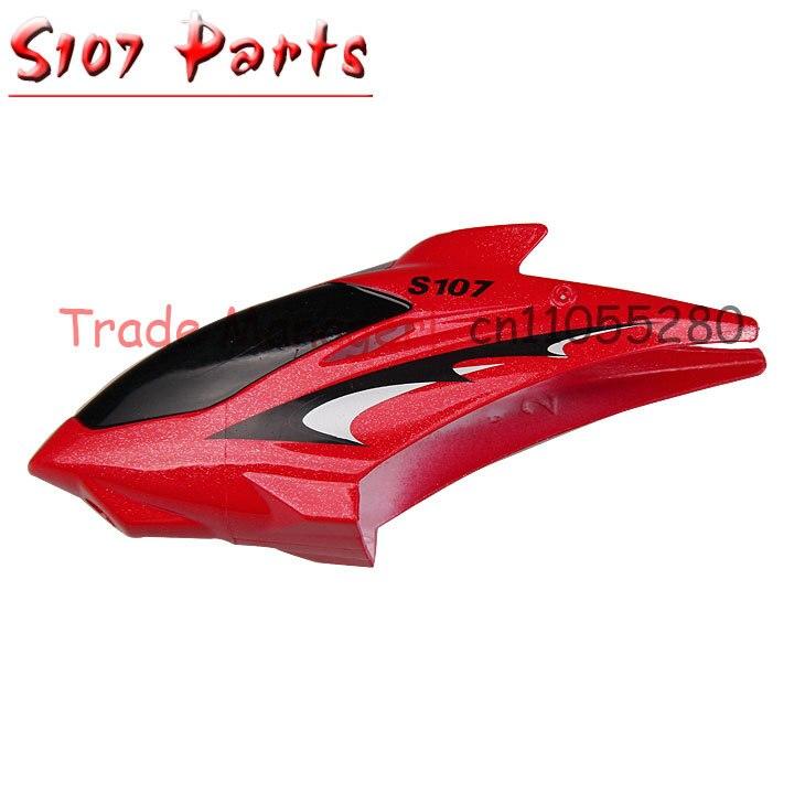 Venta al por mayor barato SYMA s107 accesorios para helicóptero de control remoto pieza de mano cabeza cubierta cabeza covers107-01 piezas para helicóptero s107g