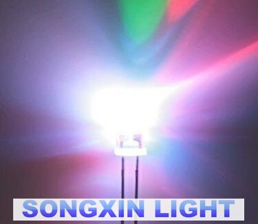 1000pcs 3mm RGB 7 farbe langsam flash-LED-licht-emittierende diode (LED) bunte F3 mm 2-PIN Kostenloser versand