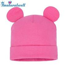 Bnaturalwell Solid Baby Winter Hat Bonnet Enfant Kids Baby Boy Girl Child Cotton Soft Warm Cap Beani